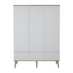 Quax Flow Natural Oak White Wardrobe XL
