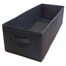 Quax Basket for Changing Table - Black Quilted - 24x60x18H cm