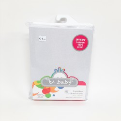 Hé Baby - Fitted sheet for Cot bed - 70x140 cm - Jersey - Light Grey
