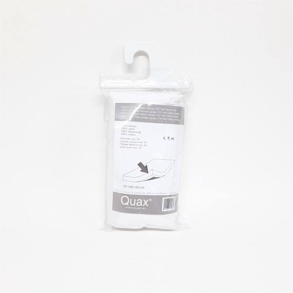 Quax  - Fitted sheet for Cot Bed - 70x140/150 cm - Jersey - White