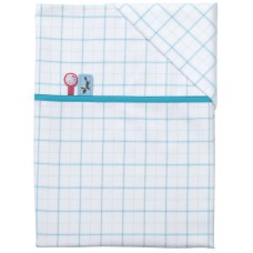 Pericles Forest Sheet for Bed Light Blue + pillowcase
