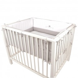 Quax Set textile for playpen - Crown - white/grey