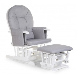 Childhome - Gliding Chair Round With Footrest - Canvas - Grey